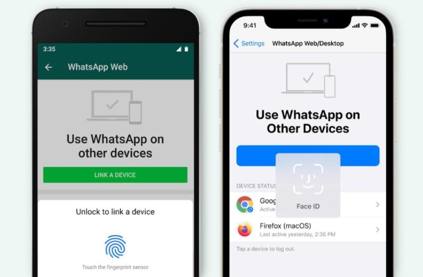 WhatsApp - Autenticación Biométrica