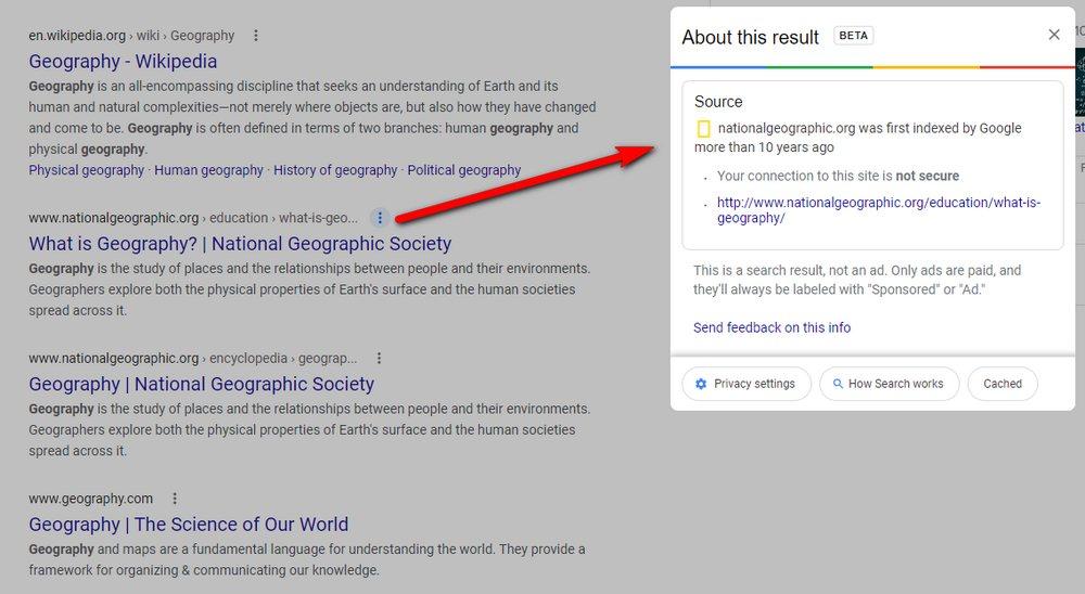 Google - Descripción Previa