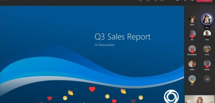 Microsoft Teams - Reacciones en Vivo