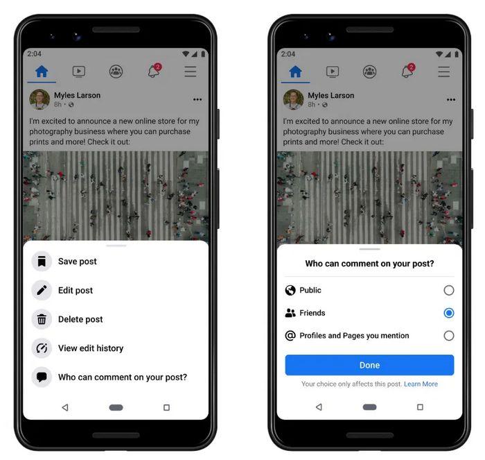 Facebook - Administrar Comentarios