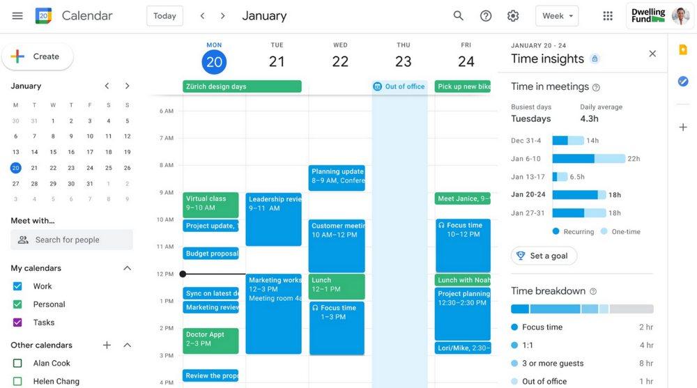 Google Workspace - Calendario de Google